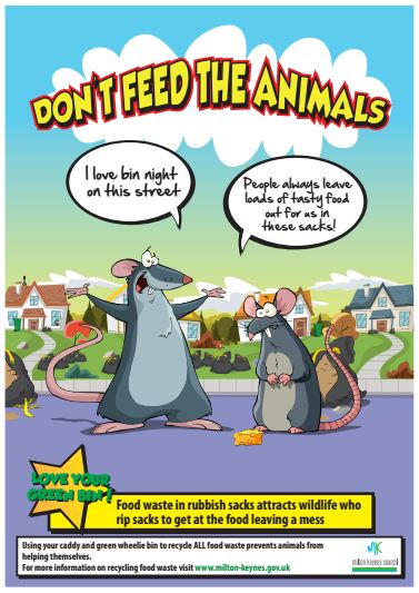 Dont feed the animals poster